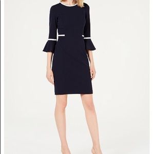 🆕 Calvin Klein Piped Bell Sleeve Dress